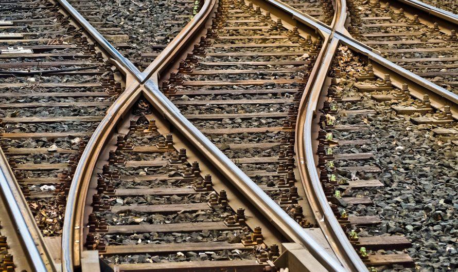 Starke Schiene unterbrochen