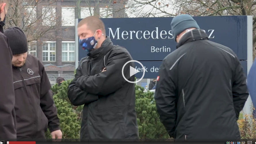 """Daimler: """"Kein Schritt zurück, Kampf um jeden Arbeitsplatz"""""""