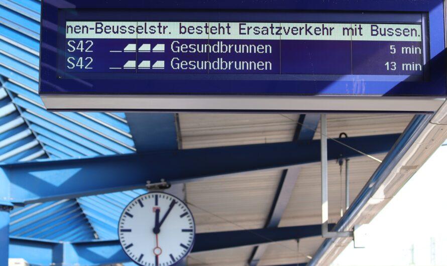 Erhöhte Reibung bei der S-Bahn