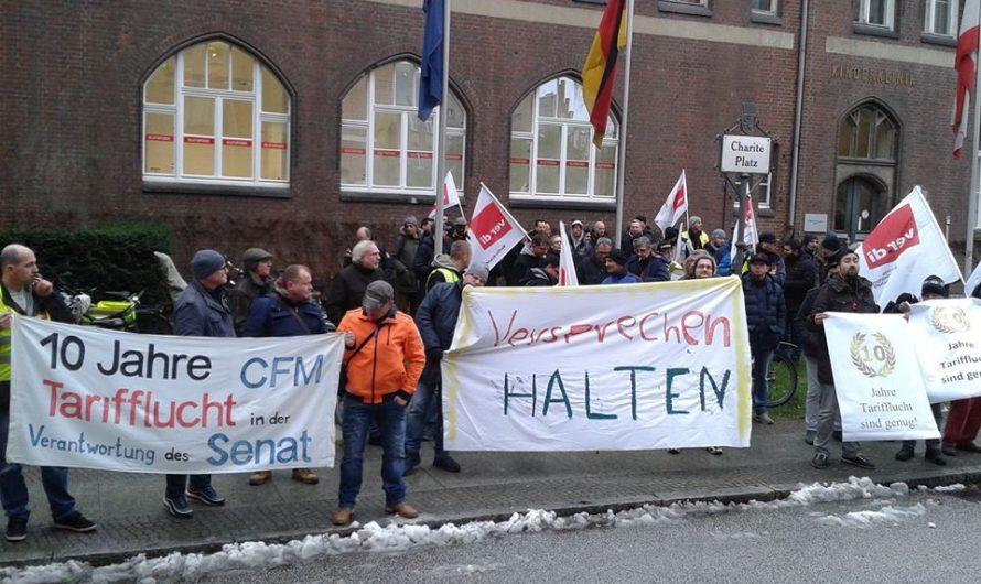 Tarifrunden ÖD und Verkehr, Streik bei CFM: Es geht um uns!